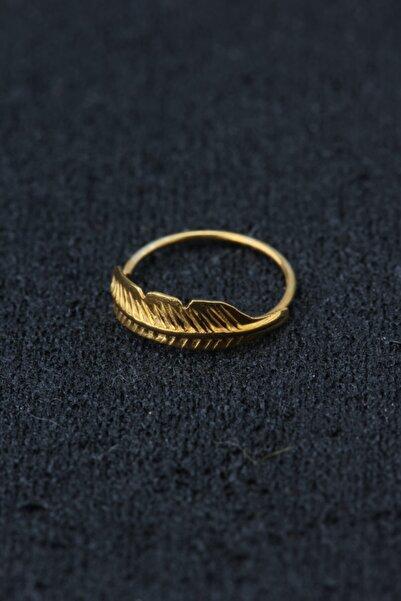 depozoom Kadın Sarı 925 Ayar Gümüş Halka Hızma
