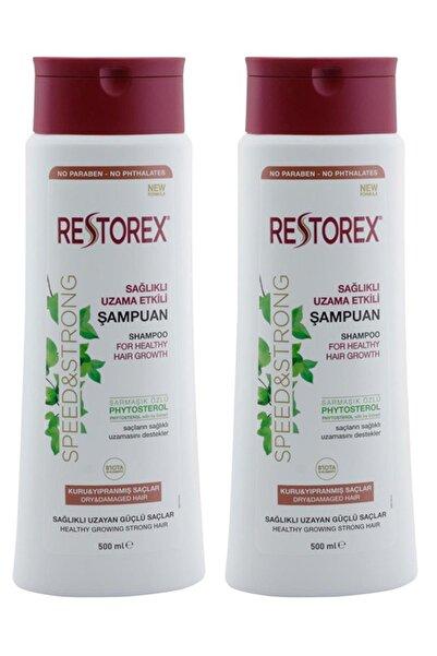 Restorex Sağlıklı Uzama Etkili  Kuru Ve Yıpanmış Saçlar İçin Sampuan  500 ml  X 2 Adet