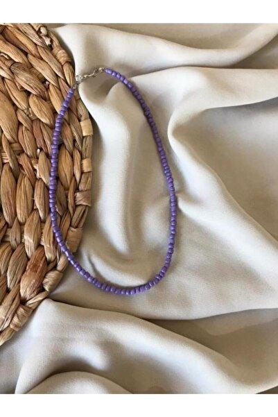 Handcraft Design Kadın Lila Renk Boncuk Kolye