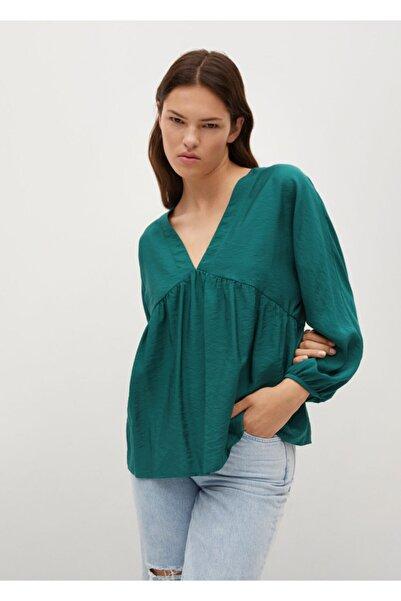 MANGO Woman Pili Detaylı Bluz