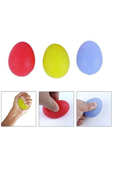 RAJ 3 Lü Set 3 Renk Silikon Stres Topu El Egzersiz Topu Fizik Tedavi Topu