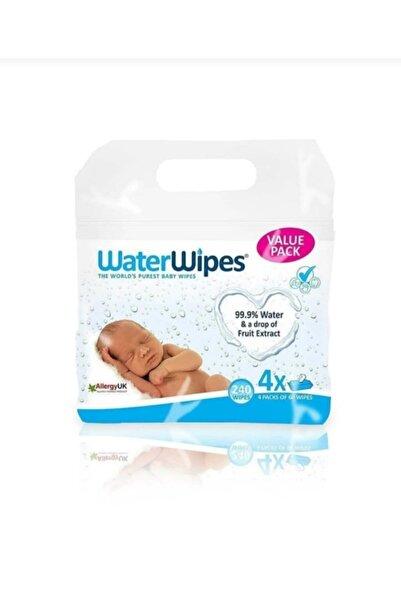 WaterWipes Doğal Islak Mendil 4'lü Paket 240 Yaprak