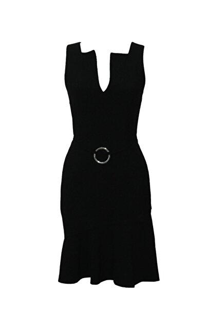 MERT ERKAN Scarlett Siyah Kısa Elbise