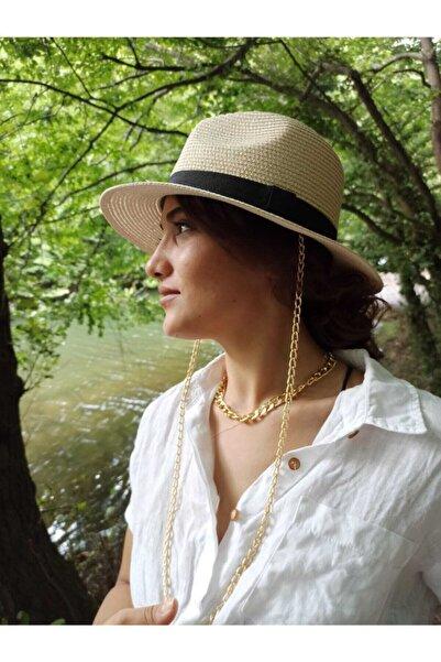 laviyonsa Kovboy Model Zincirli Hasır Şapka