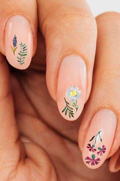 Artikel Çiçekler Tırnak Dövmesi,Tırnak Tattoo,Nail Art ,Tırnak Sticker