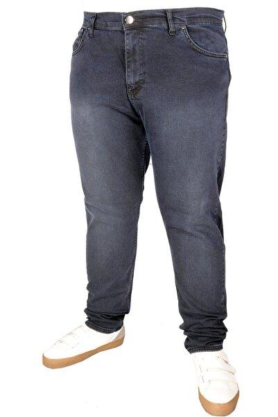 ModeXL Büyük Beden Erkek Pantolon Kot 5cep Blueblack 20907