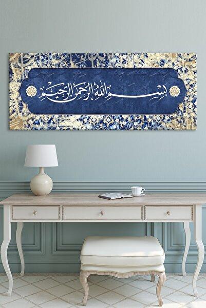 Morfil Sanat Besmele Dini Islami Hat Kanvas Tablo Bismillahirrahmanirrahim