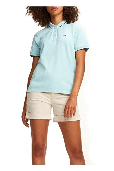 Tommy Hilfiger Kadın Turkuaz T-Shirt