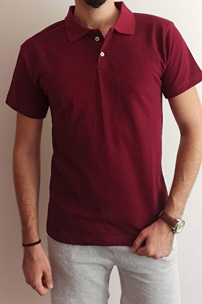 B&S Ticaret Erkek Bordo Polo Yaka T-shirt