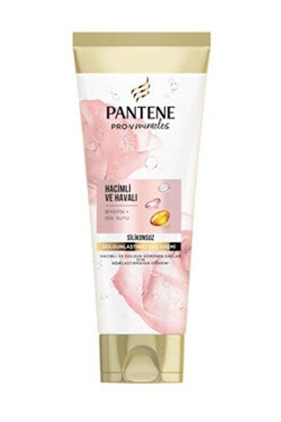 Pantene Silikonsuz Hacim Veren Dolgunlaştırıcı Saç Bakım Kremi, Biotin ve Gül Suyu, 275ml