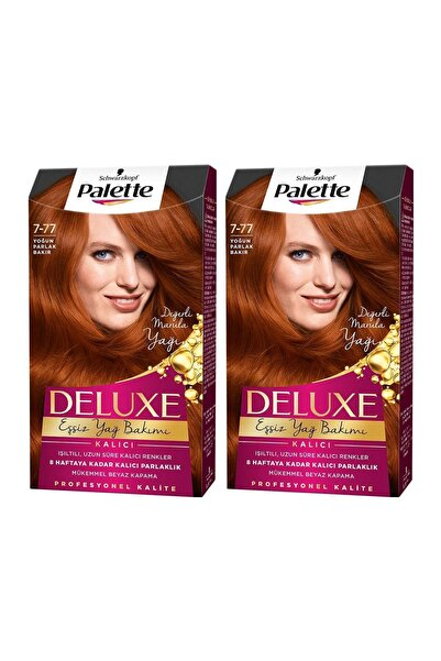 PALETTE DELUXE Deluxe 7-77 Yoğun Parlak Bakır  X 2 Adet
