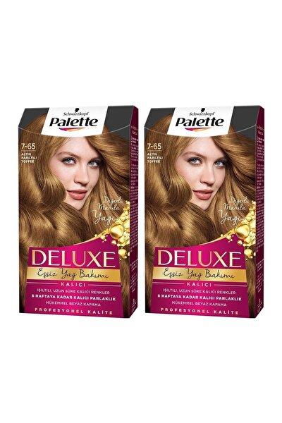 PALETTE DELUXE Deluxe 7-65 Altın Parıltılı Toffee X 2 Adet