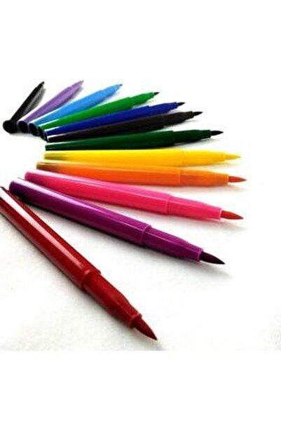 12 Renk Jumbo Keçeli Boya Kalemi
