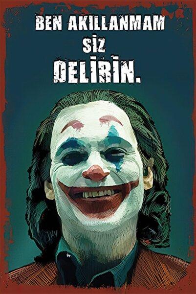 Hayal Poster Joker Retro Ahşap Poster 003