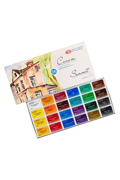 ST. PETERSBURG Sonnet Studıo Watercolors 24'lü Set Karton Suluboya