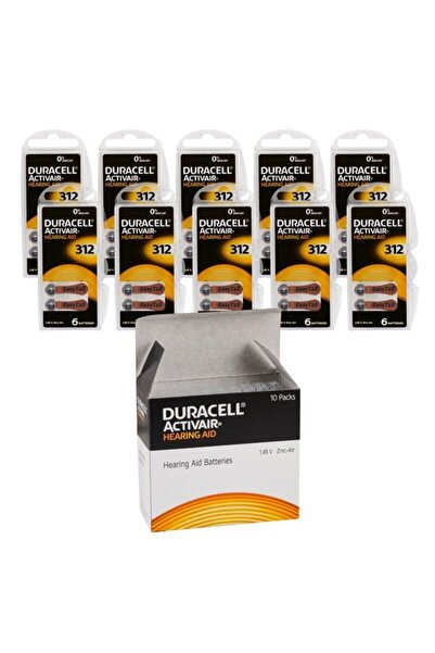 Duracell Activair 312 Kulaklık Pili 6lı Blister - 10lu Paket