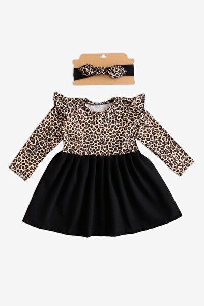 Parla Kids Kız Çocuk Leopar Desenli Uzun Kollu Elbise Takım