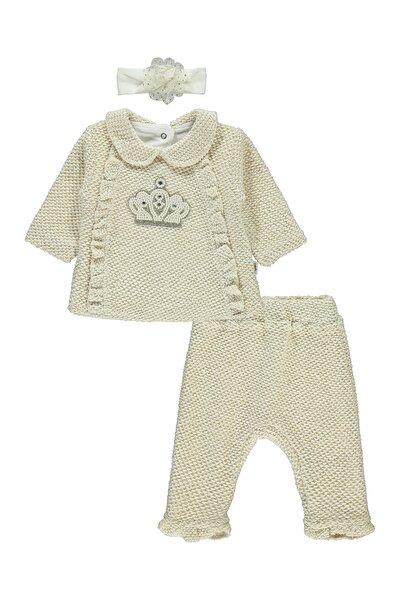 Minidamla Kız Bebek Bandanalı Takım 1-6 Ay Kırmızı