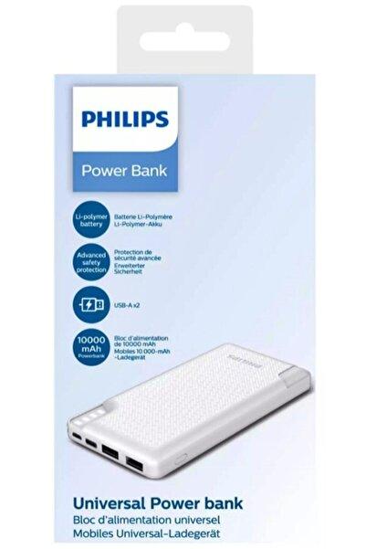 Philips Dlp2010nw 10000mah 37 Wh Led Göstergeli Beyaz Taşınabilir Powerbank