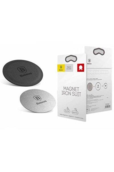 Baseus Magnetic Telefon Tutucu Plaka 2 Adet 1 Deri 1 Metal Telefon Arkası Yapışkanlı Mıknatıs