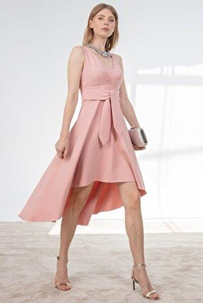 Elbise Göğüs Katlama Detaylı Ön Arka Geçişli
