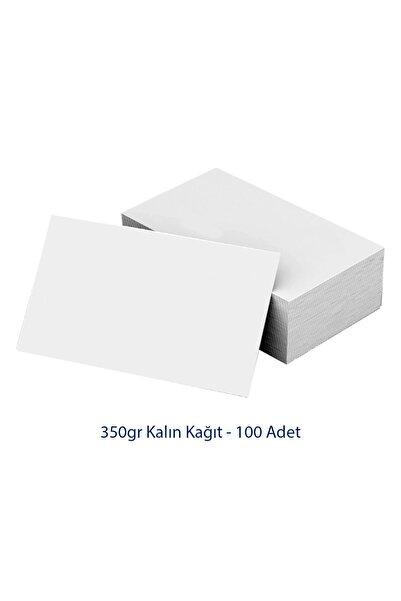 Yekru Not Baskısız Boş Kartvizit Boy 100 Adet Bloknot 350gr Kalın Not Kağıdı