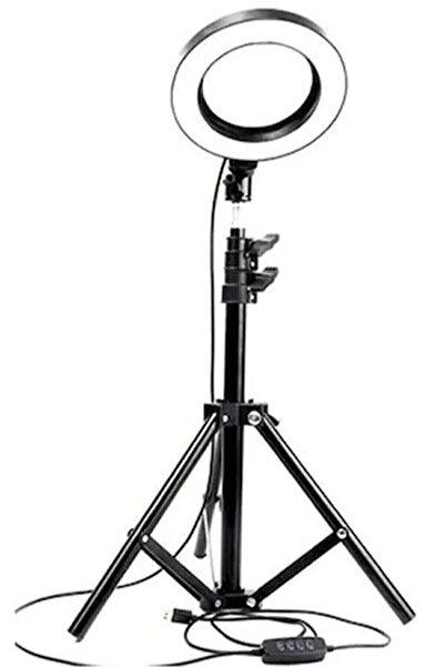 HepsiSanaÖzel Led Tripod Işıklı Telefon Tutucu Makyaj Işığı Ring Light 14 Inç + 2.1 Metre Tripod