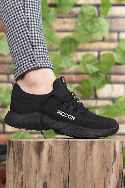 Riccon Unisex Siyah Sneaker 0012072