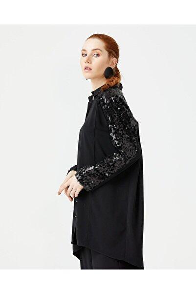 SEÇİL Kadın Siyah Tunik