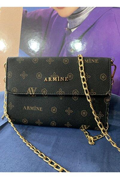 Armine Kadın Siyah Tren Çanta