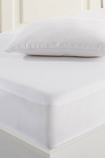 Marie Claire Bebek Sıvı Geçirmez Yastık Alezi 35x45 cm- Cycas Beyaz