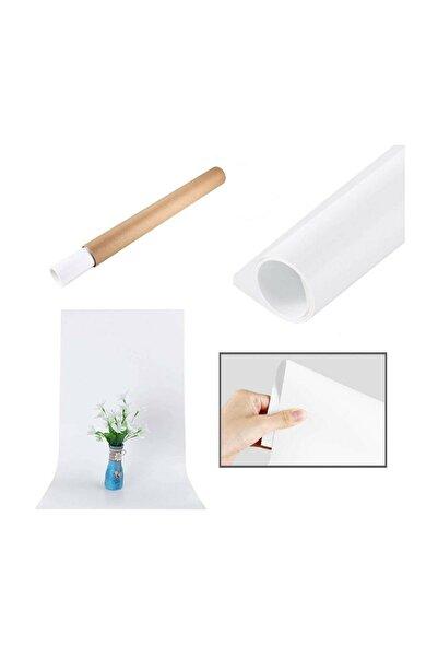 Hdg Profesyonel Fotoğraf Fonu Beyaz Plastik Stüdyo Çekim Fonu Büyük 100x140 Cm - Özel Karton Tüp Ruloda