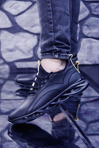 bigport Hafif ve Esnek Tabanlı Rahat Giyimli Suya Dayanıklı Erkek Spor Ayakkabı Siyah