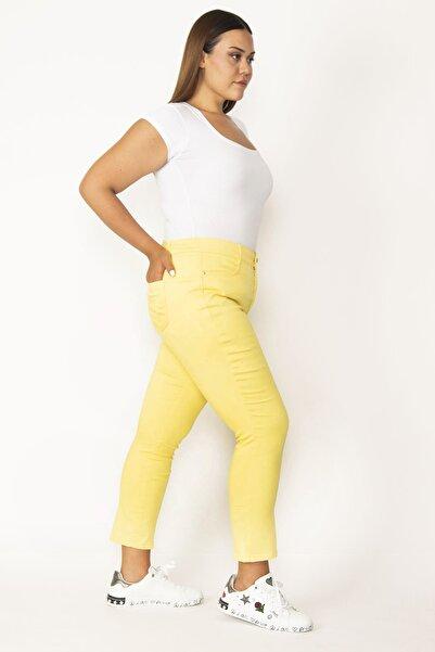 Şans Kadın Sarı 5 Cepli Kot Pantolon 65N27572