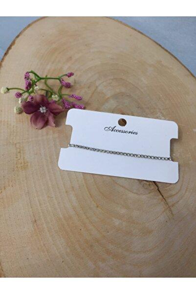 Accessories Gümüş Renkli Sıralı Taşlı Asansörlü Bileklik