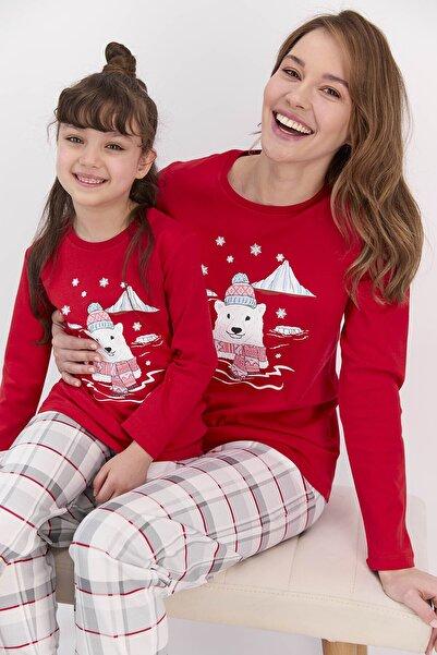 ROLY POLY Anne-kız Kombin Kırmızı Pijama Takım