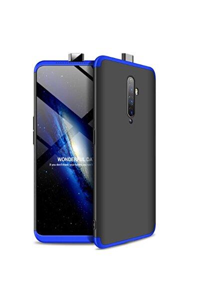 OPPO Reno 2z Full Koruma Silikon Ays Kılıf Siyah/mavi