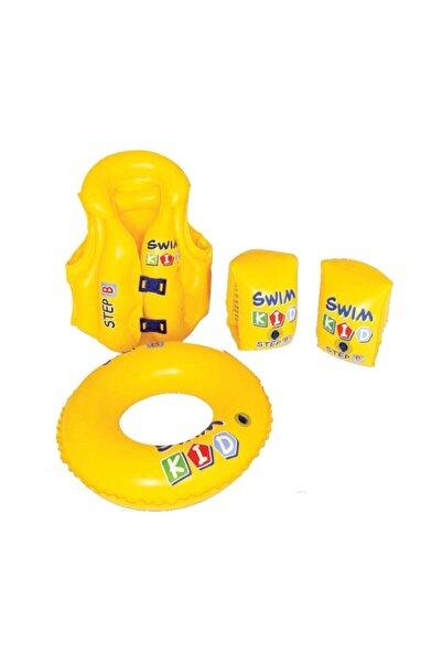 ALTIS Havuz Ve Deniz Çocuk Yüzme Öğrenme Seti Deniz Kolluk, Havuz Simit Ve Can Yeleği