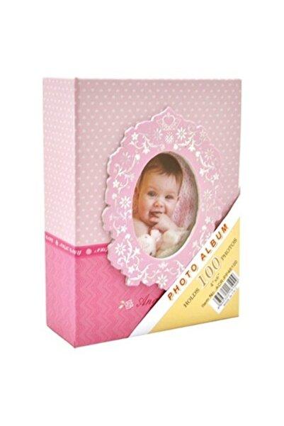 FOTOBASKIMIZ 10x15cm 100'lük Bebek Fotoğraf Albümü Pembe