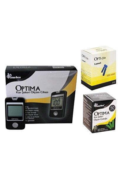 Optima Kan Şekeri Ölçüm Cihazı+ 1 Kutu Strip (50 Adet) + 1 Kutu Delme Iğnesi