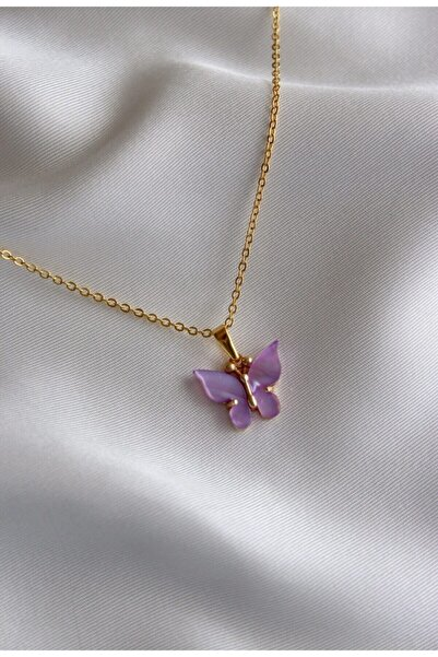 Neslihan's Jewelry Kelebek Taşlı Altın Kaplama Kolye