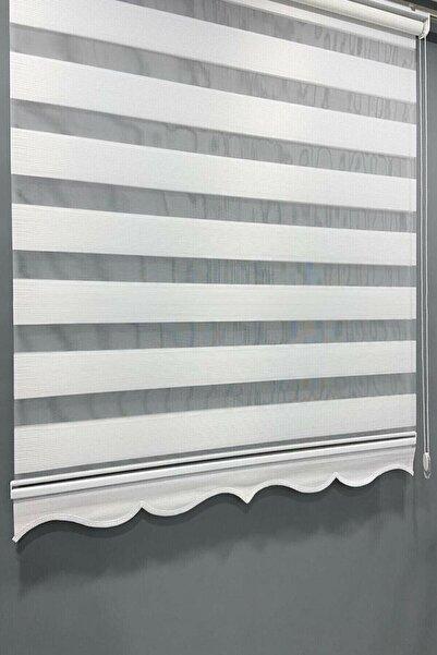 Arzey Home Brillant Ekru Micro Plise Zebra Stor Perde Slmzbrmic01
