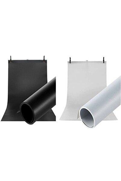 Hdg Profesyonel Stüdyo Plastik Fotoğraf Fonu 2'li 70x100 cm Beyaz + Siyah