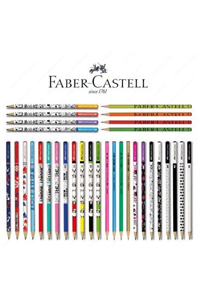 Faber Castell Faber Castel Lüx Mercanlı Karışık Yuvarlak Kurşun Kalem 12 Adet
