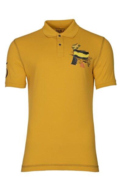 Arma Y21374271901 Erkek Baskılı Polo Yaka T-shirt Kısa Kollu Yazlık Tişört