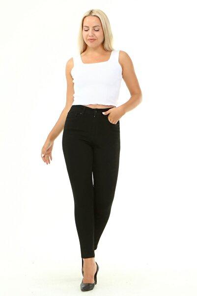 CHI'LA Collection Kadın Siyah Büyük Beden Yüksek Bel Skinny Jeans