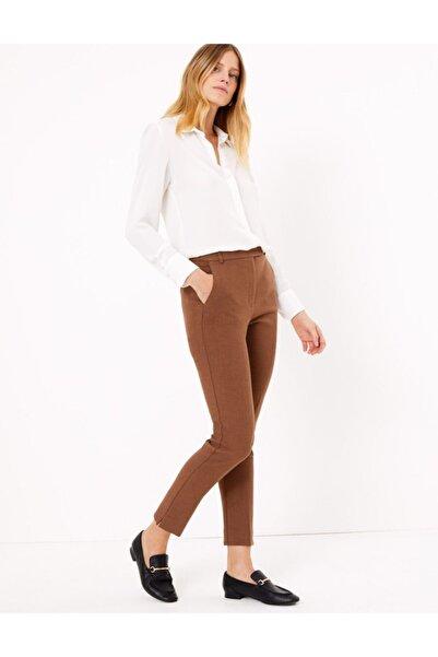 Marks & Spencer Kadın Kahverengi Slim Leg Ankle Pantolon T59005665