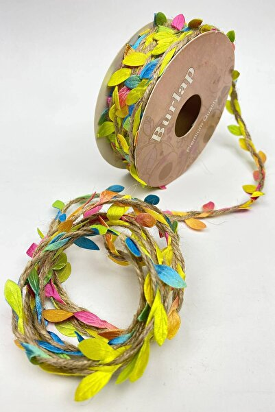 Hobigram Renkli Hasırlı Yaprak Şerit