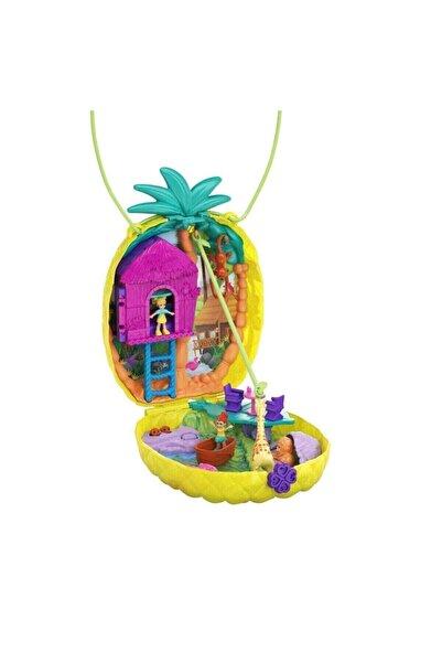 Polly Pocket Çanta Olabilen Micro Oyun Setleri Gkj63 - Tropicool Pineapple Purse
