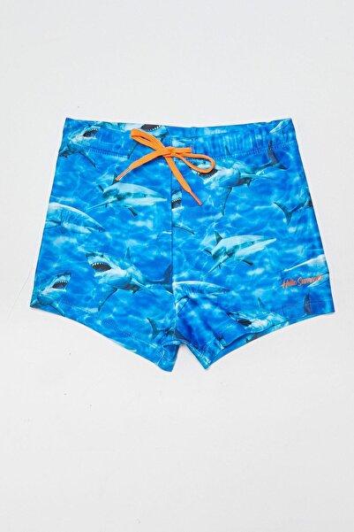 LC Waikiki Erkek Çocuk Mavi Baskılı Lqq Mayo